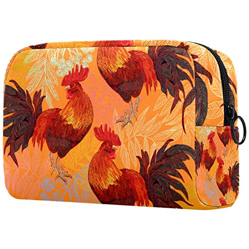 Makeup Bag Cartoon Cosmetic Pouch Printed Toiletry Travelling Bags Cosmetic Bags for Women Cock Animal