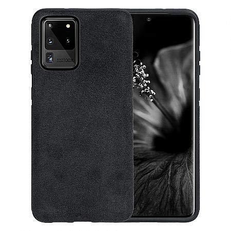Arrivly Funda Protectora para Samsung Note 20 Ultra 6,9 Inch Eco Piel de Ante Microfibra y Silicona Negra (Galaxy Note 20 Ultra 5G)