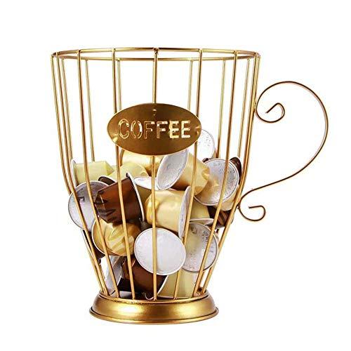 FXQIN Cesta de Almacenamiento para cápsulas de café, Porta Cápsulas De Café Vintage, Organizador de cápsulas de café, Soporte para Cápsulas De Café para el hogar, cafetería y Hotel