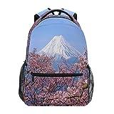 HaJie - Mochila de viaje con diseño de flores de cerezo japonés, de gran capacidad, para el colegio, con correas para el hombro, para ordenador portátil, para mujer, hombre, adolescente y niños