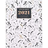 2021 Monthly Planner by AT-A-GLANCE, 8-1/2' x 11', Large, Badge Floral (1450L-091-21)