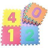 NARY Tappeto Puzzle da Gioco per Bambini, Alfabeto E Numeri, 30x30 Cm, in Gomma Eva, Spugn...