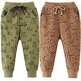 FAIRYRAIN 2er Pack Kinder Junge Sweathose Kids Karikatur Drucken Sporthose Jogger Pants Hose Babyhose 98 (Herstellergröße: 5T)