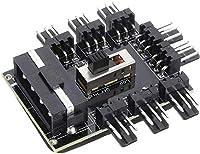 8-Wege-Lüftersteuerung Molex Stromanschluss Niedrig-, Hoch- und Aus-Geschwindigkeitskontrolle Klebepad auf der Rückseite
