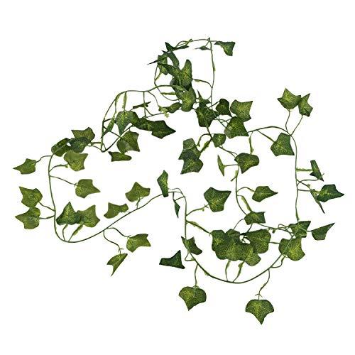 Lopbinte 2M 6.6 Feet Artificial Ivy Fake Foliage Leaf Flowers Plants Garland Garden Decoration 2M (Sweet potato leaf)