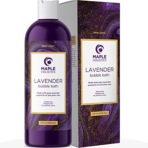 Premium Lavender Bubble Bath Soak - Aromatherapy Bubble Bath Soap and Luxury Lavender Bath Oil for Dry Skin - Moisturizing and Relaxing Bubble Bath for Adults with Aromatherapy Oils for Self Care