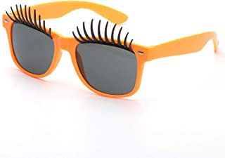 Fashion Perfect Party Favor Glasses Party Accessory Big Eyes Eyelashes Fanci-Frame Adult Kids Party Sunglasses Retro (Color : Orange)