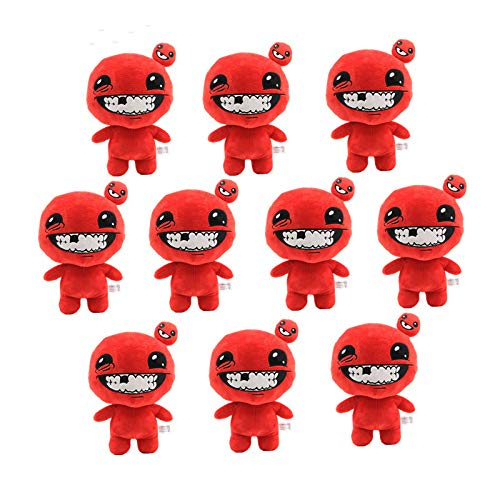 shenlanyu Juguete de Peluche Venta Al por Mayor 10pcs 30cm Juego The Binding of Isaac Afterbirth Rebirth Toy Doll Juego Figura Super Meat Boy Soft Stuffed Doll