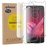 pinlu [4 Pack Film Protection en Verre trempé écran Protecteur Vitre pour Motorola Moto Z2 Play...