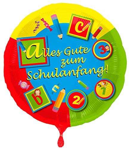 Folat Luftballon Schulanfang bunt, Folien-Ballon, 46cm