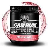 6AM Run Sprint Run Pre Workout Powder for Running - Cardio Pre Workout No Jitters - Keto Pre Workout Powder - Vegan Pre Workout Powder - Fruit Punch Pre Workout Running Supplement - 30 Scoops