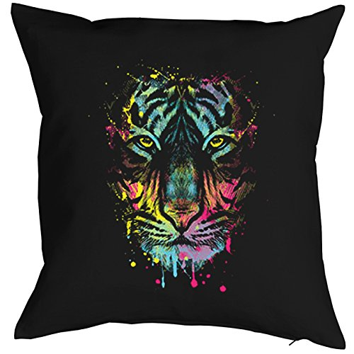 Dripping Tiger Cat Chats Gatti Gatos Coussin, Pop Art Style