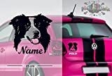 Border Collie #1 | Tier | Wunschtext | Auto Aufkleber | Hund