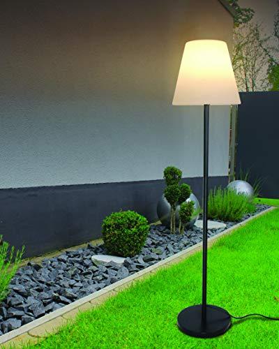 Velamp Terra Außen- und Innenleuchte: IP65, Fassung 1 x E27, kompatibel mit LEDs, Höhe: 150 cm, Kabel 1,5 m, für Garten, weiß