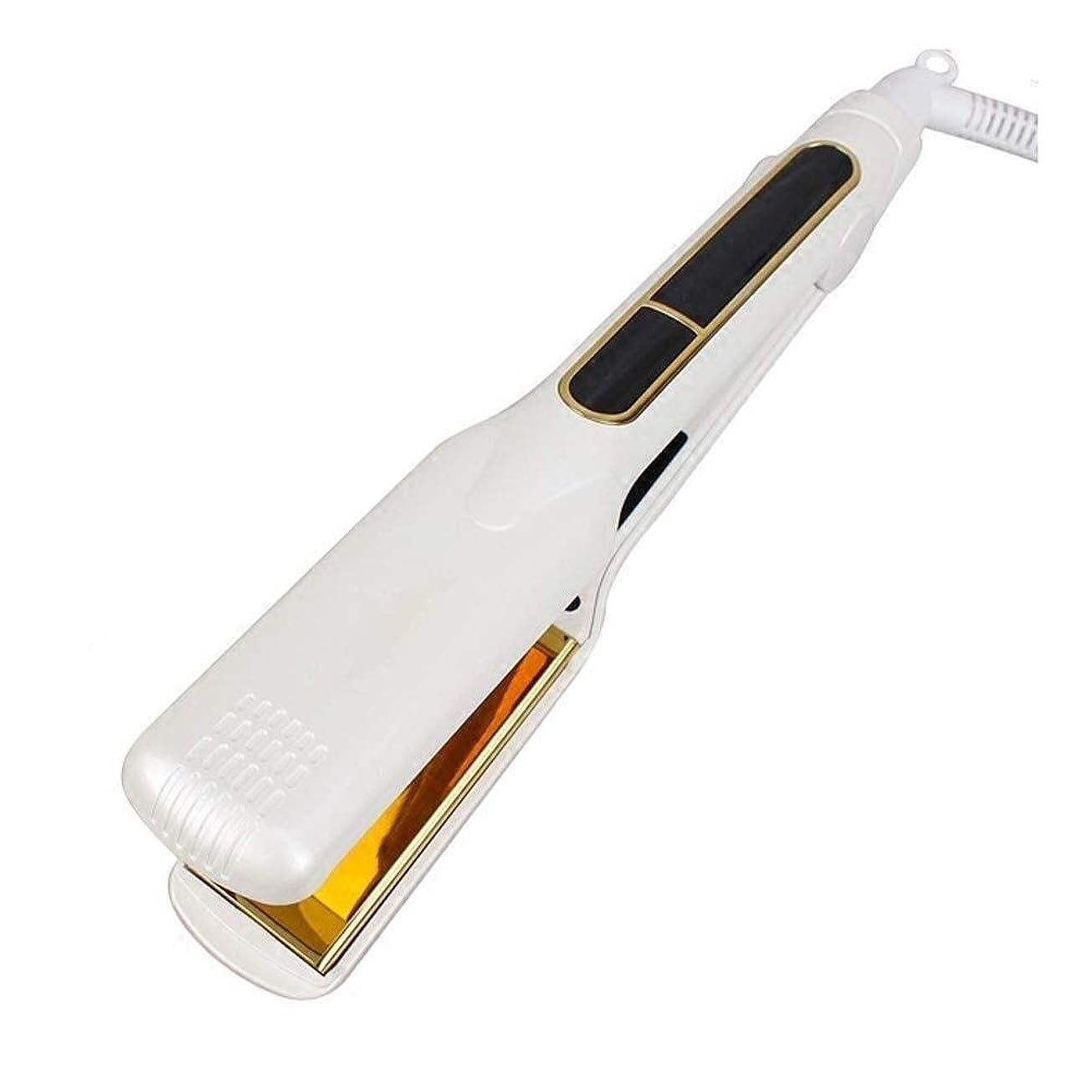 LiGang ストレートヘア アイアンPranchasデCabeloカーリングアイロンスタイリングツールイオンフラットアイアン矯正専門の毛のストレートLCDディスプレイ