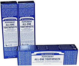 Dr Bronner's Peppermint All-One Toothpaste Pack of 3 by Dr. Bronner's