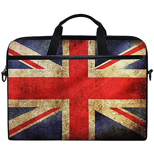 British Union Jack Uk Flag Laptop Bag Case Sleeve Briefcase Waterproof Shoulder With Strap For Ultrabook Notebook 14 Inch