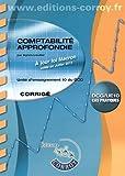 Comptabilité approfondie UE 10 du DCG - Corrigé