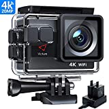 Victure AC800 Cmara Deportiva Wi-Fi 4K Ultra HD 20MP (Action Camera Acuatica de 40M...