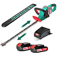 HYCHIKA Brushless 40V Cordless Hedge Trimmer with Battery