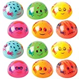 ArtCreativity Frog Poppers, Set of 12, Pop-Up Half Ball Toys in Assorted Colors and Designs, Old School Retro 90s Toys for Kids, Birthday Party Favors, Goodie Bag Fillers for Boys and Girls