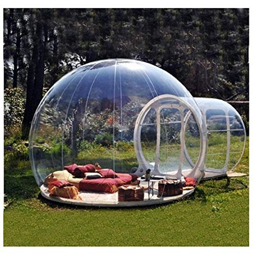 L&WB Tienda Inflable de la Burbuja de la casa, Tiendas Transparentes de la bóveda de la bóveda del Aire de la Familia Que acampan con el Ventilador Libre de CE/UL y el Equipo de reparación