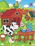 Animales de la granja - Libro para colorear - A partir de 3 años (Libros de colorear)