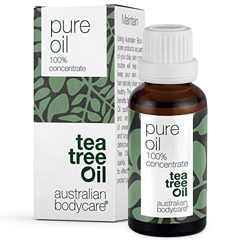 Australian Bodycare Tea Tree Oil 30 ml | Teebaumöl gegen Pickel im Gesicht | Ätherisches Öl für unreine Haut, Kopfhaut, Haare | Pflege bei Akne, Fußpilz, Nagelpilz
