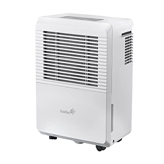 Ivation 4,500 Sq Ft Energy Star Dehumidifier with Pump - Large Capacity Compressor for Spaces Up To 4,500 Sq Ft… 8 This Compressor Dehumidifier Keeps Spaces Up to 4,500 Sq. Ft. Cool & Comfortable by Removing 50 Pints of Moisture/Day (70 Pint according to the old DOE standards, in 2019 this was classified as 70 pint and it now needs to be classified as 50 pint but IT REMOVED THE SAME MOISTURE AS THE OLD 70 PINT) Built-In Humidity Sensor - The LCD accurately displays the current humidity level in the room, enabling you to set your ideal levels for automatic moisture control Built-In 16W Pump Delivers Worry-Free Use w/Continuous Upward Water Drainage Out of Basement Window or Into Sink