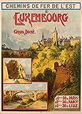 Vintage Travel Luxemburg mit Chemins De Fer 'Est