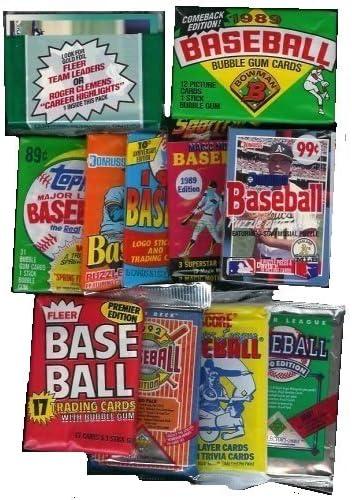 Max 80% OFF 25 Original Ranking TOP9 Unopened Packs of packs all Cards Vintage Baseball