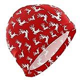 ALINLO Gorro de natación con diseño de cenador Rojo, Gorro de...
