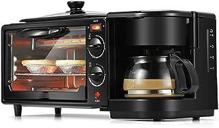 Ashey Máquina de Desayuno eléctrica 3 en 1, Horno Tostador de 220 V, cafetera doméstica, Pizza, Tarta de Huevo, Horno, sartén, máquina para Hacer Pan
