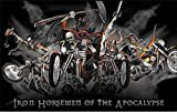 U24 Fahne Flagge Iron Horseman Motorrad Harley 90 x 150 cm
