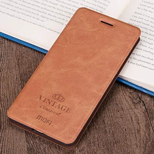KCSds Apple iPhone XR Caso Caballo Loco Textura Horizontal Flip Funda de Cuero PU con el sostenedor y Ranura for Tarjetas (Color : Brown)
