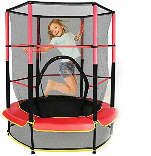 Kaibrite Trampolino elastico per bambini per interni ed esterni, con rete di protezione, aste...