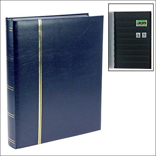 Price comparison product image Stamp Album Stockbook Premium - 64 Black Pages - Dark Blue