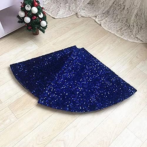 Sequined Christmas New Free Shipping Tree Skirt-Velvet Fabric Base R Inch OFFer 22 Round