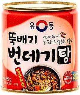Yoo Dong Korean Silkworm Pupa soup (spicy) 280g, 유동 뚝배기 번데기 탕 얼큰한 맛