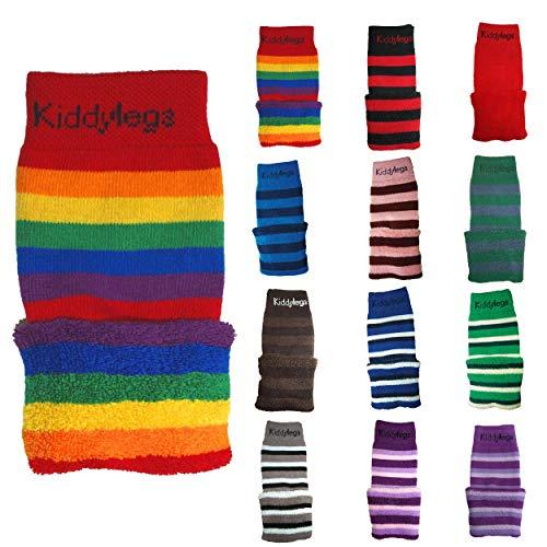 Kiddylegs® Thermo Baby- und Kinderstulpen Beinwärmer (Regenbogen (Extra Weit))