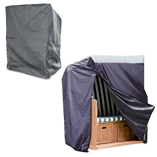 Housse de protection pour fauteuil-cabine de plage avec fermeture éclair, protège contre l'humidité, la saleté, UPF 50+, anthracite – 170/135 x 155 x 105 cm