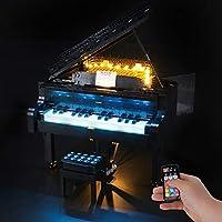 アイデアグランドピアノ用BRIKSMAX LEDライトキット - レゴ 21323と互換性(レゴセットは含まれていません)
