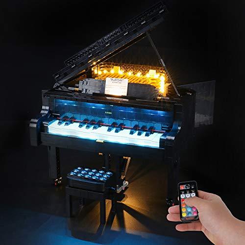 BRIKSMAX Led Beleuchtungsset für Lego Grand Piano,Kompatibel Mit Lego 21323 Bausteinen Modell - Ohne Lego Set (Fernbedienungsversion)