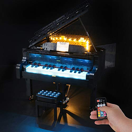 BRIKSMAX Led Lighting Kit for Grand Piano - Compatible with Lego 21323 Building Blocks Model- Not Include The Lego Set