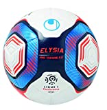 uhlsport Elysia Pro Training 2.0-Ballons-Taille 4 Adulte Unisexe, Blanc/Metallic Bleu/Orange, 4