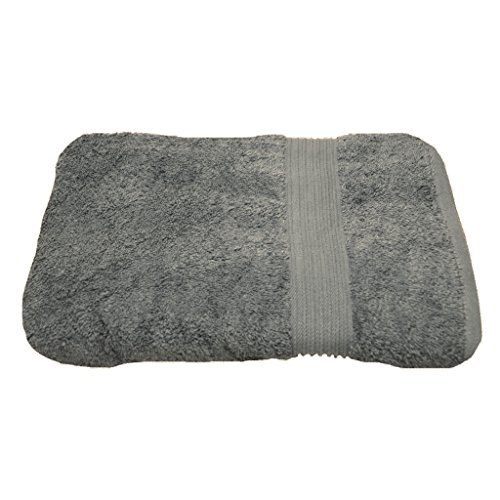 Julie Julsen Serviette de douche sans produits chimiques - 600 g/m² - Gris argenté - 70 x 140 cm - 100 % coton - Certifié Öko-Tex Std 100 - Doux et absorbant - Lavable en machine