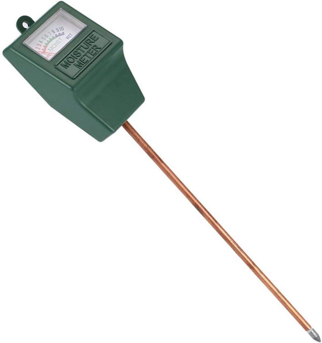 Timetided Higr¨®Metro de Suelo de una Sola Aguja, Detector de Suelo, medidor de Humedad del Suelo, probador de Suelo, medidor de pH para Plantas agr¨ªcolas, Flores