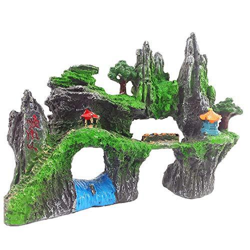 YAOHEHUA Guaridas Piedras hábitats Reptiles y Anfibios Decoración de Jardines rocosos Refugio de Peces y camarones decoración del hogar de la montaña Shunfeng
