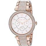 Michael Kors Women's Parker Quartz Watch with Stainless Steel Strap, Rose Gold, 20 (Model: MK6760)