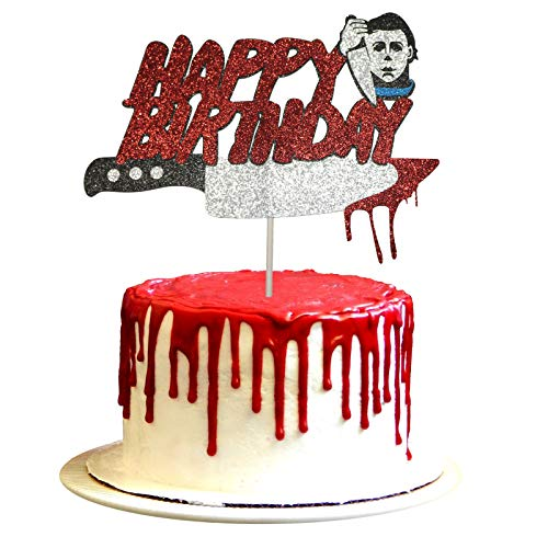 Have A Killer Birthday Cake Topper Horror Movie Party Decorations Michael Myers Cake Topper, Halloween Birthday Cake Topper, Friday the 13th Birthday Party, Halloween Zombie Vampire Party Decorations